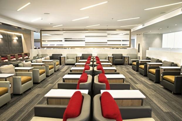 Um dos ambientes da nova sala vip da American (Divulgação)