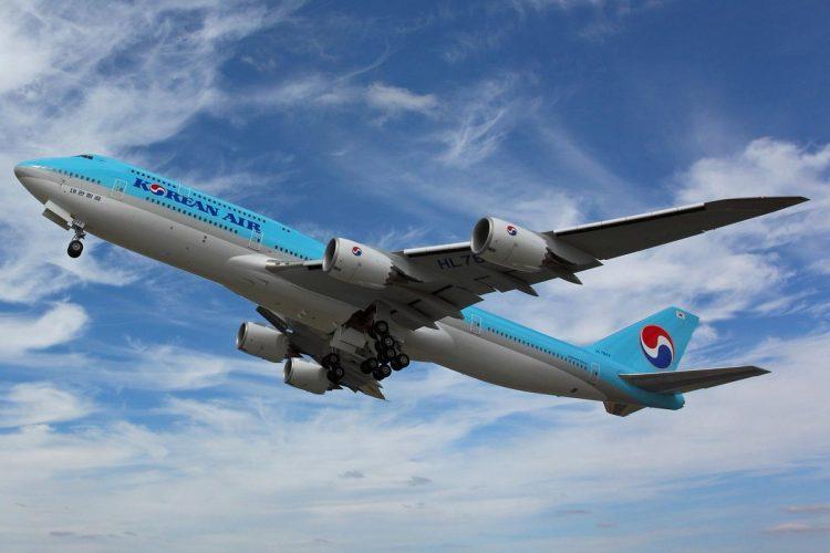 Boeing 747-8i da Korean, entregue em julho deste ano, pode ter sido o último produzido (Foto: Divulgação/Portland Airport)