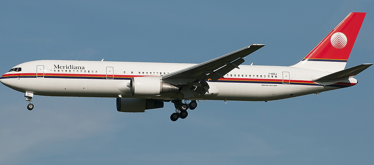 Boeing 767-300ER usado pela Meridiana na rota Milão - Fortaleza (Foto: Wikimedia Commons)