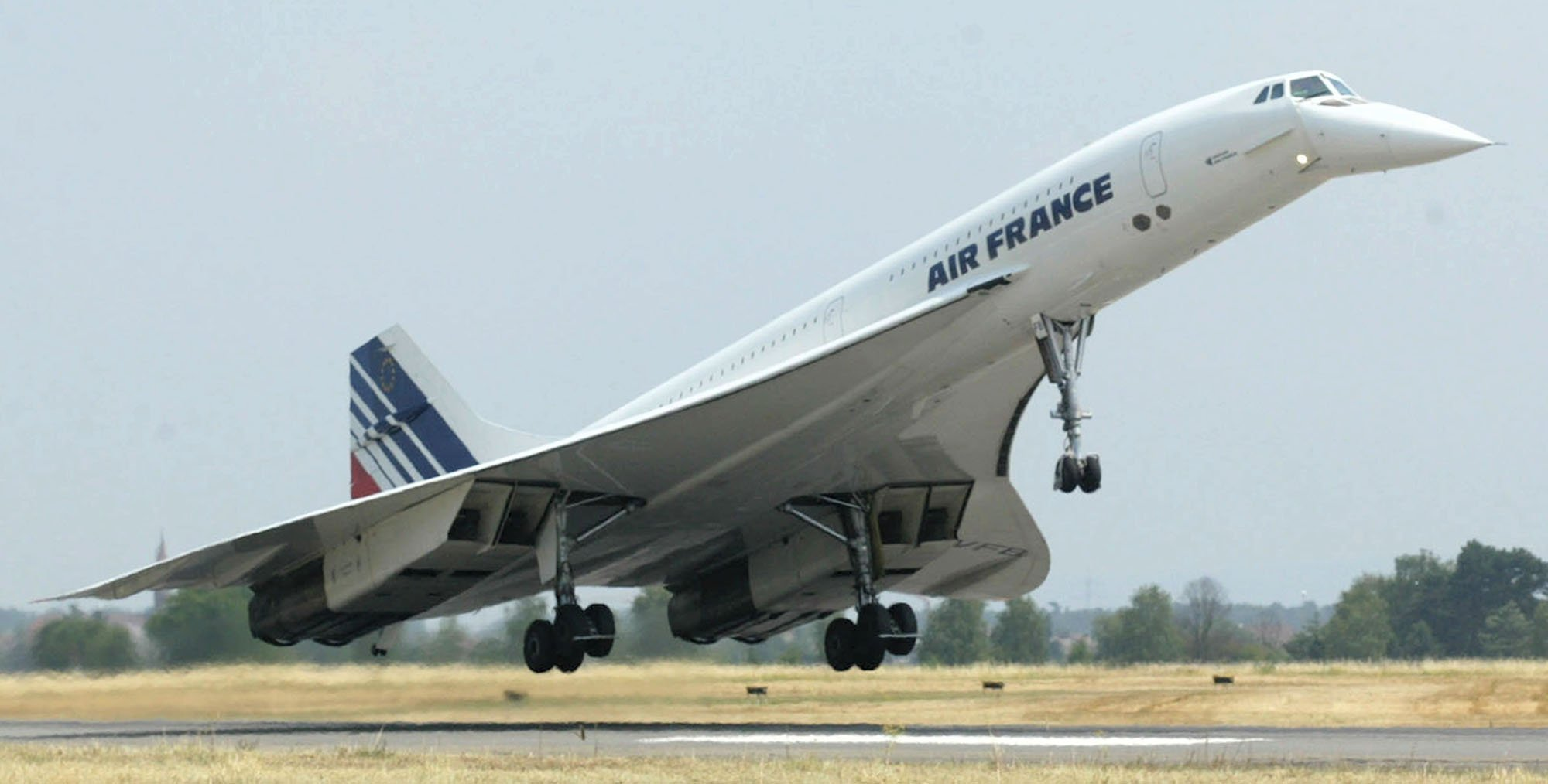 Concorde da Air France pousa na Alemanha
