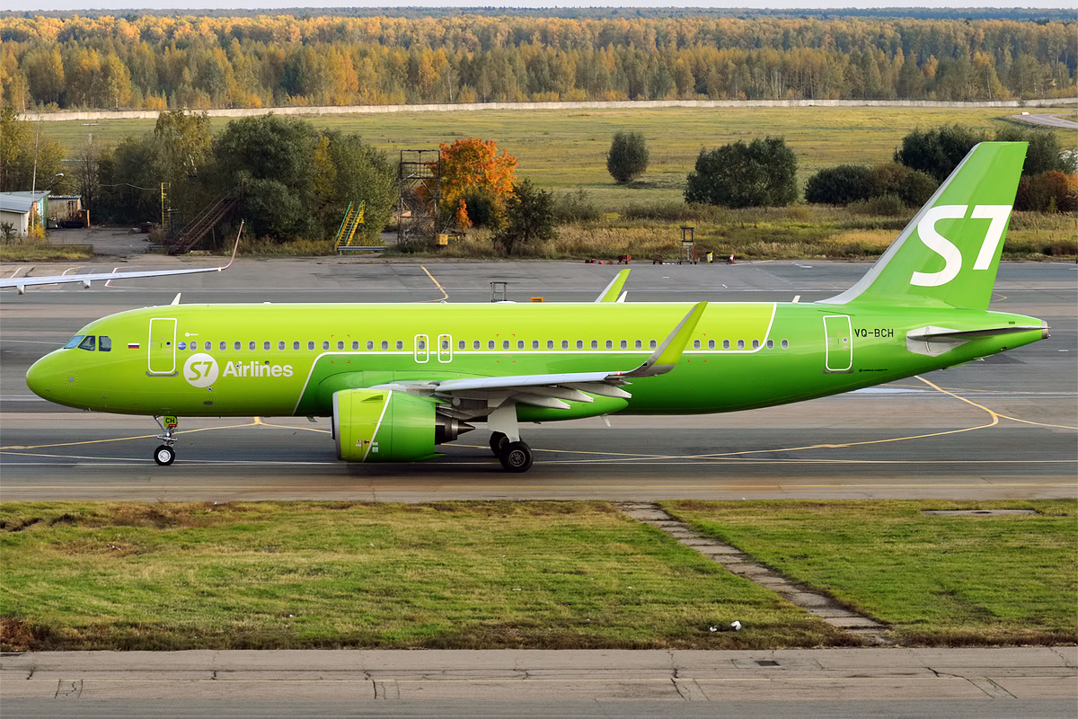 Airbus A320neo da S7 Airlines (Foto: Wikimedia Commons)