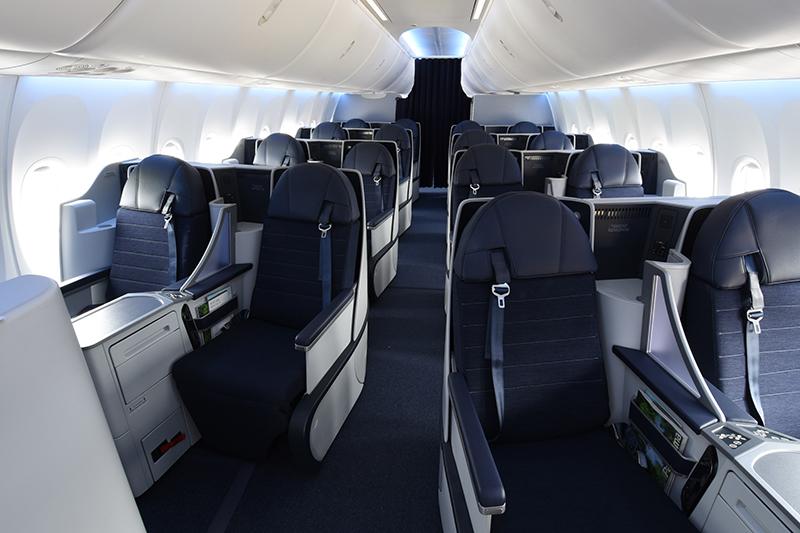 Nova classe executiva Dreams tem 16 assentos reclináveis tipo cama (Foto: Divulgação)