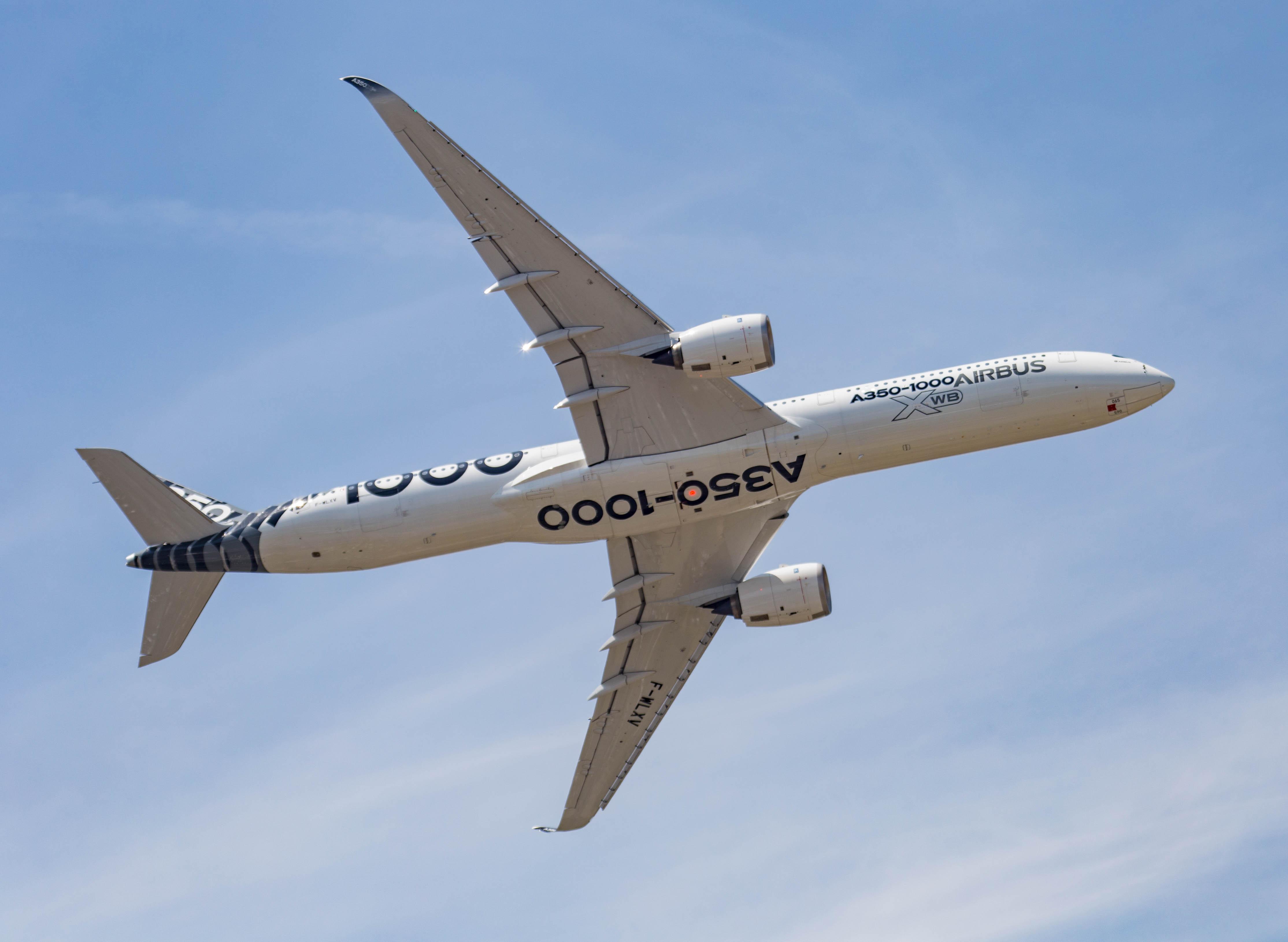 A350-1000 é a maior versão do A350, considerado um dos mais modernos aviões do mercado