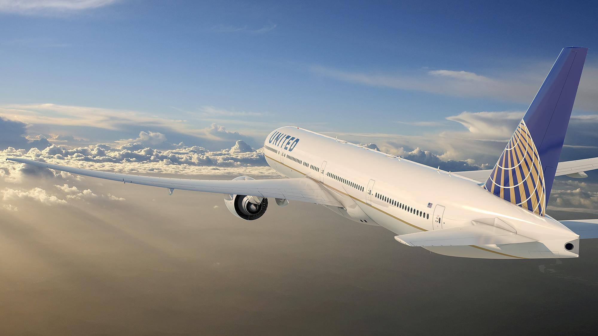 O Boeing 777-300ER é o maior da frota da United atualmente (Foto: Divulgação)